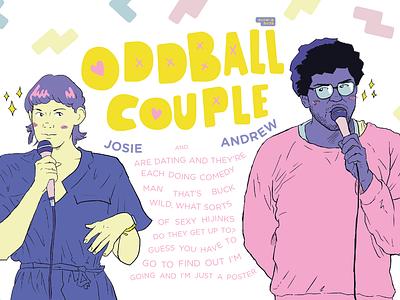 Oddball Couple - Comedy Poster poster illustration