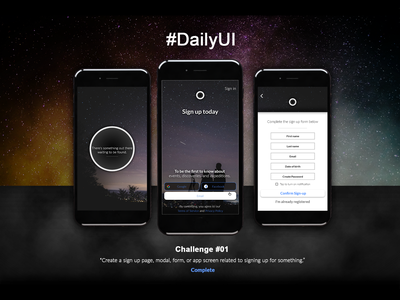 daily ui challenge 001 inspired by vaonis telescopes ux ui design app