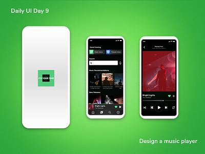 Designed a music player app product design uxui design adobe photoshop adobe xd dailyui ux ui design