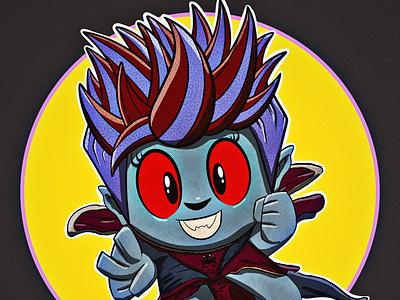 Vampire inktober2020 inktober popart vector character illustration character design procreate portrait illustration illustrator