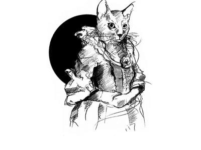 Victorian kitty retro victorian theprotoart vector illustration character design procreate illustrator kitty animal animals