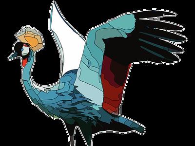Majestic protoart bird animal inktober2020 vector illustrator character design procreate illustration