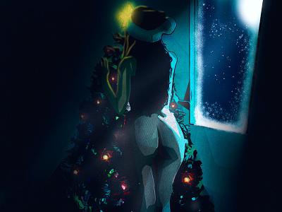 Naughty or nice vector commission design illustrator procreate illustration dark holiday model