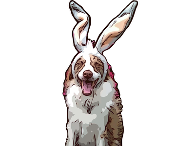 Good boy 2 protoart animal illustrator design portrait illustration commission vector character design illustration procreate