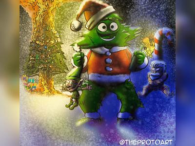 Holiday fun procreate art procreate protoart humour funny holiday christmas