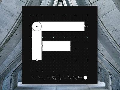 Letter F - CyberMunk Alphabet myshots scifi future signs sideproject design dotgrid cyberpunk cybermunk type