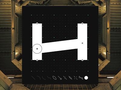 Letter H - CyberMunk Alphabet myshots future scifi signs type sideproject dotgrid design cyberpunk cybermunk