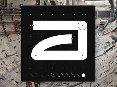 Letter J - CyberMunk Alphabet scifi letters font future signs myshots sideproject design dotgrid cyberpunk cybermunk type