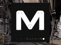 Letter M - CyberMunk Alphabet