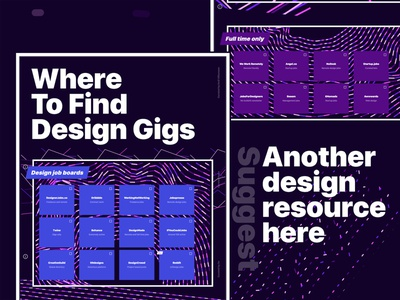 Where To Find Design Gigs dot com webflow pink job board web design abstract purple