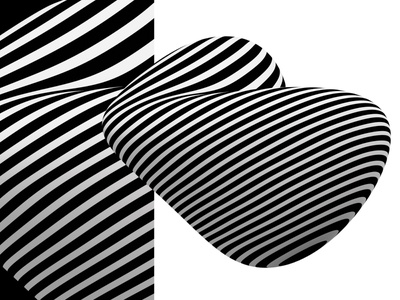 Superstripes Blobs Frank black  white stripes abstract art freebies freebee freebie abstraction abstract design 3d art abstract flat 3d 3d