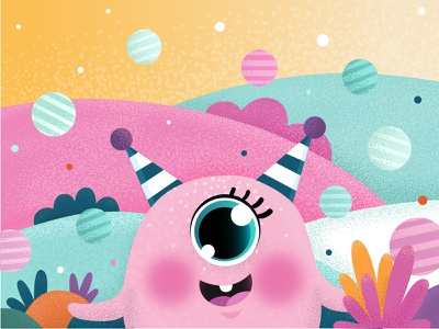 cute monster sweet pink cute art artwork character cute character monster illustration art cute illustration vectorart vectors vector art illustrator illustration vector illustration vector adobe illustrator
