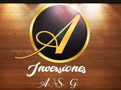 Logo for; Investments A.S.G. logodesign artmizukichan illustration logo design artist artmizuki