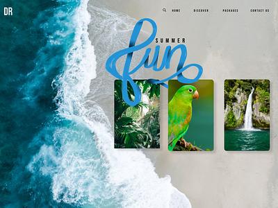 Website/handlettering colorful design procreate typography logo branding ui