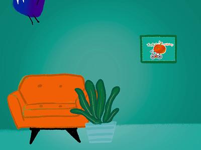 Procreate animation gif animated animation gif animation design digital art design colorful illustration design hand drawn procreate