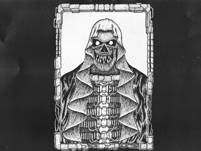 HONOR OF THE DEATH MACHINE skull logo skull art skull tshirt design tshirt metal inked illustrator ink drawing design art darkart dark black band artwork artist art