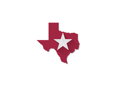 Lone Star State Concept Logo keep texas red lone star lone star state graphic design concept logo logo design texas concept