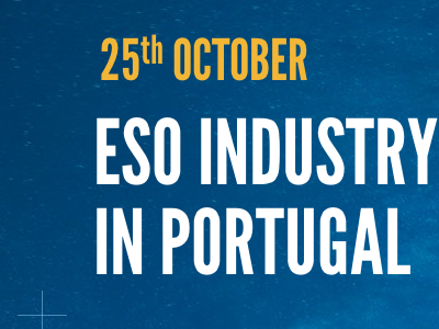 ESO Industry Day #1 header space eso league gothic type blue