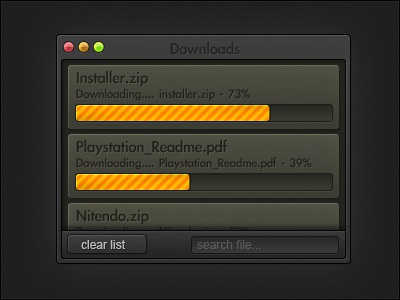The Firefox Download Window by Najim R  on Dribbble