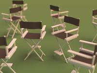 Film Chair (Blender 3D)