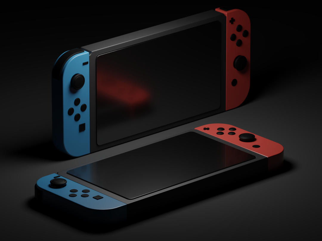 Nitendo™ Switch (Dark) renders isomatric c4d illustration nintendo nintendo switch render cgi cycles clean 3d blender3d blender