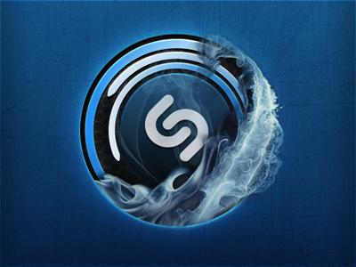 Shazam (Listening screen, Fire blue) shazam fire ios app listening