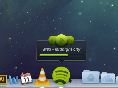 Spotify - Mouse over concept spotify concept osx