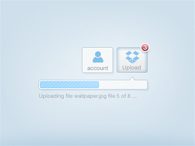 Dropbox HTML5 Upload concept dropbox html5 upload concept