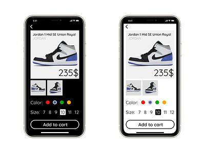 Daily UI  012 ecommerce ui app design dailyui