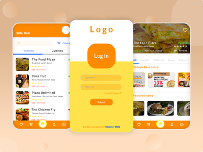 Food Order App mobile app design uidesign android app design android mobile food delivery uiux restaurant app food app