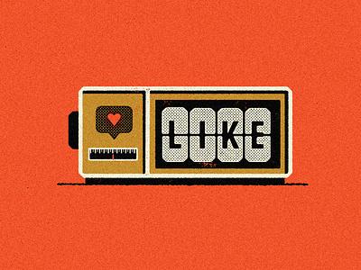 Social Media Clock infographic social media true grit texture supply texture halftone retro illustration illustration