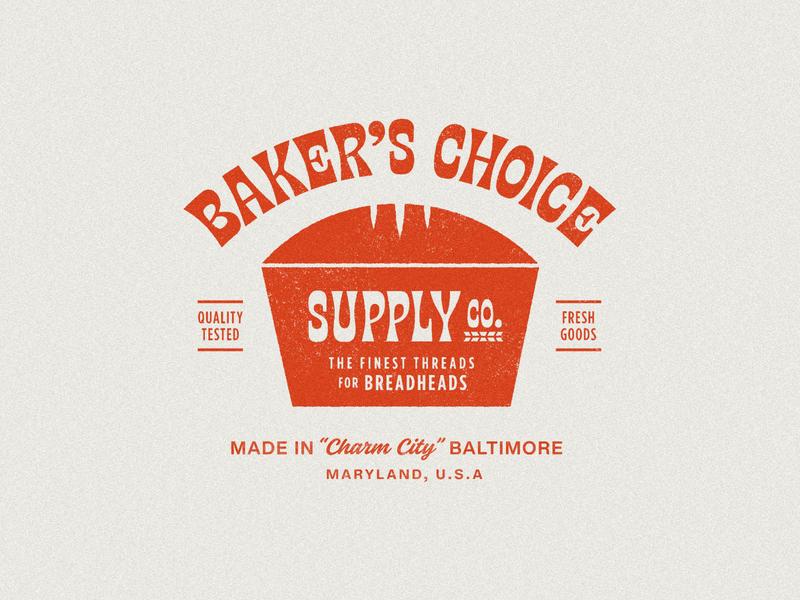 Baker's Choice Supply bread maryland baltimore grain texture true grit texture supply truegrit retro retro type retro logo retro badge badge bakery