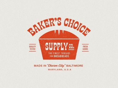 Baker's Choice Supply bread maryland baltimore grain texture true grit texture supply truegrit retro retro type retro logo retro badge badge bakery
