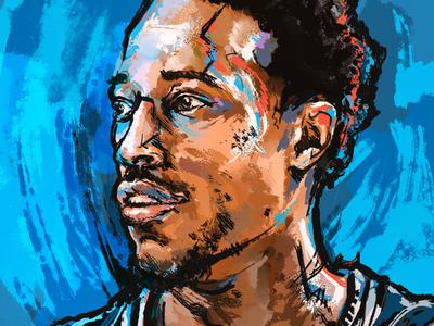 Portrait Illustration - DeMar DeRozan