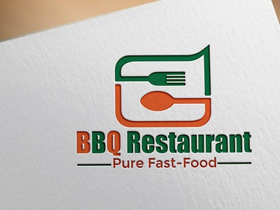 BBQ Restaurant Logo bishajit kumar restaurant logo real-estate logo beautiful logo custom logo modern logo unique logo creative logo business logo professional logo minimalist logo minilalist flat logo graphic design logo designer logo maker logo design logo branding design design