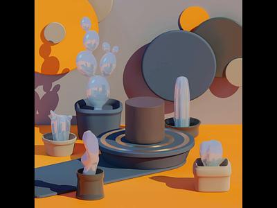 Pottery pottery setdesign render texture product orange green aniamtion 3d animated animation space illustration pop blender 3d 3d design 3d art