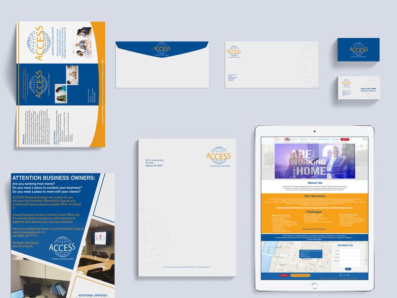 Access Branding Mockup 3 design branding