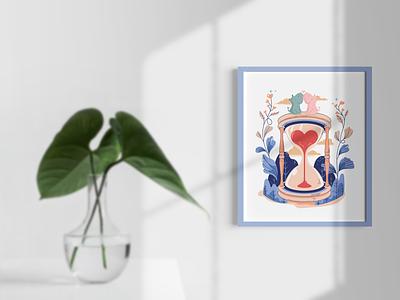 Amore art vector design illustraion love