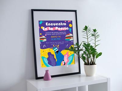 Encuentro de poesía! illustraion branding illustrator ilustración art vector design