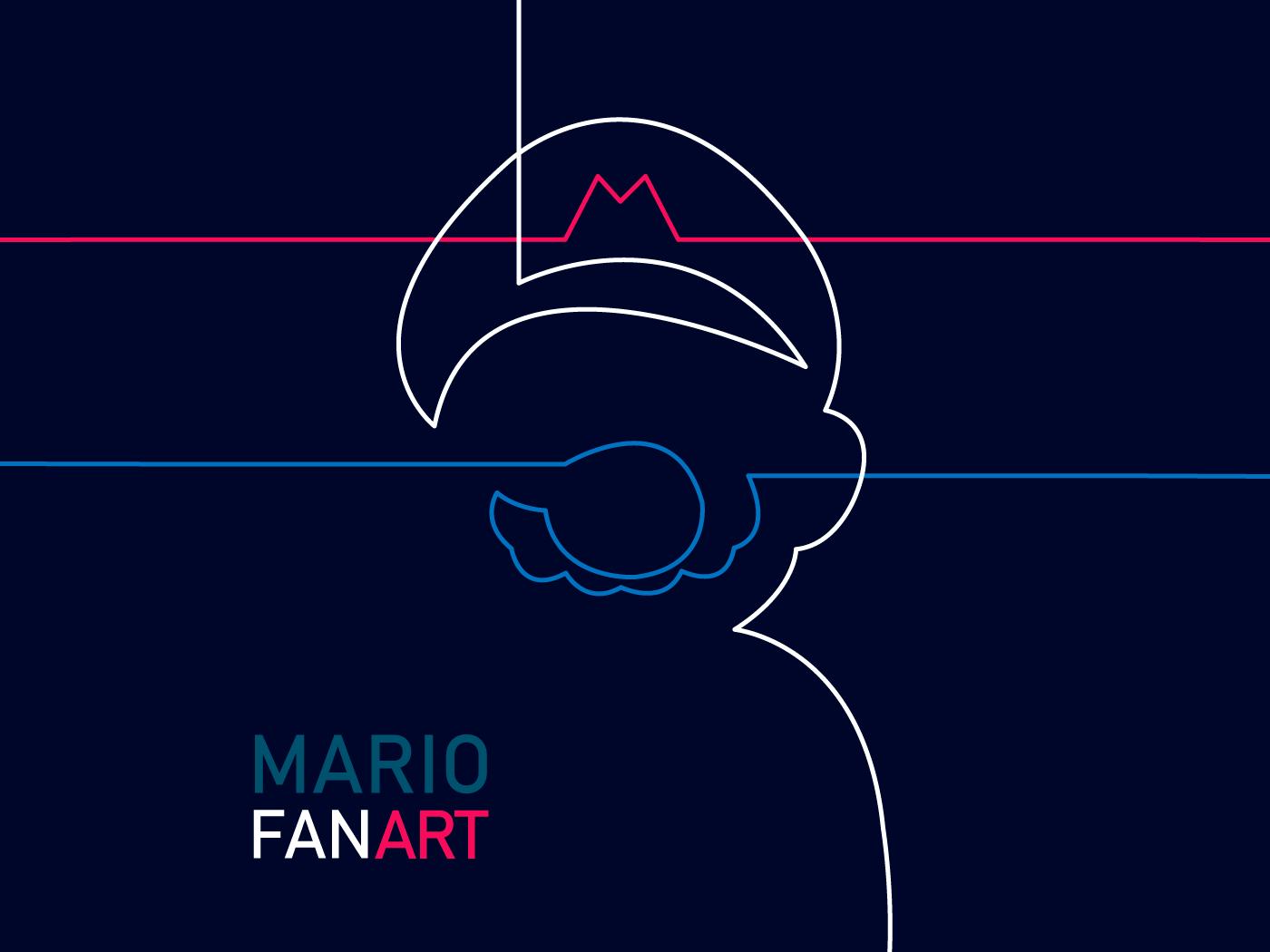 Mario Bros Fan Art wii nintendo switch gameboy nintendo64 supernintendo videogames games minimal illustrator fantart nintendo mario mariobros
