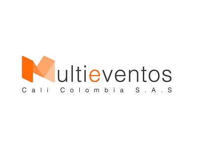 Multieventos Cali logo skull mug illustrator ilustración design