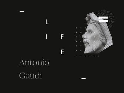 concept site Antonio Gaudi app typography web design vector uidesign illustration