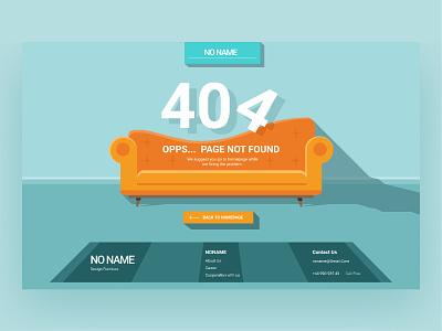 sofa 404 app web ui design concept uidesign illustration sketch furnitute sofa 404 404 error 404 page