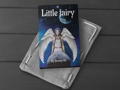 Story book cover design star earth moon black blue mockup paperback kdp lulu creative layout ebook ebooks character fairy comic children childrens book