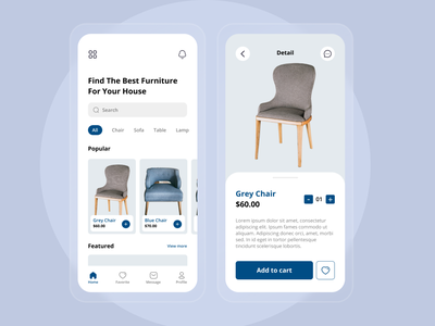 Furniture Shop App Exploration user interface design uidesign app design glass effect minimalist design minimalist clean design clean ui furniture furniture design furniture store furniture app mobile app design uiux ui  ux mobile design ui mobile ui ui design simple design