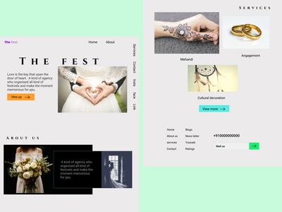 The fest typography marriage agency ui landingpage