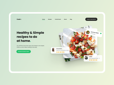 Cookin - Cook anything with Cookin recipes food ui design ui
