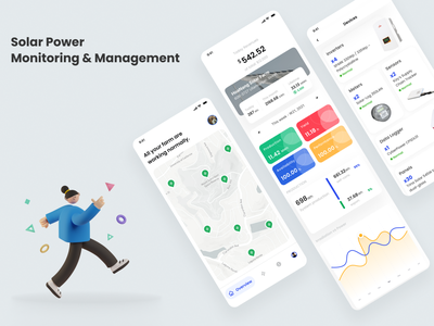 Solar Power Monitoring & Management mobile app monitoring solar power solar ui design ui