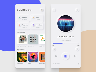 Music Player App 🎛 | Neumorphism concept mobile app neumorphism music player ui design ui