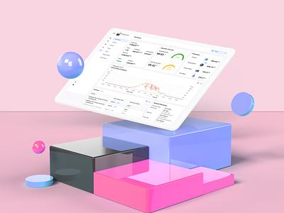 Solar Monitoring Dashboard dashboard illustration ui design mockup ui